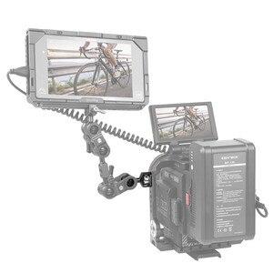 Image 5 - BallHead com Pinos de Fixação Para Montar Câmera Arri SmallRig/Monitor de Gaiola Com a Localização dos Pontos de Arri 2114