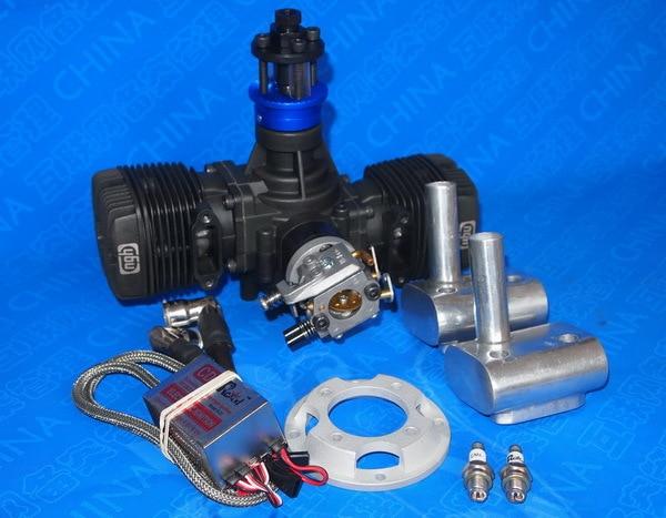 NGH 70CC 2 Stroke 2 Cylinder Gasoline / Petrol Engine GTT70 for RC Airplane xyz 40s ts 40cc double cylinder two stroke gasoline engine petrol engine for rc airplane