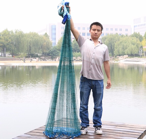 Finefish New Easy throw frisbee Cast net High strength multifilament line 3 6M fishing net american
