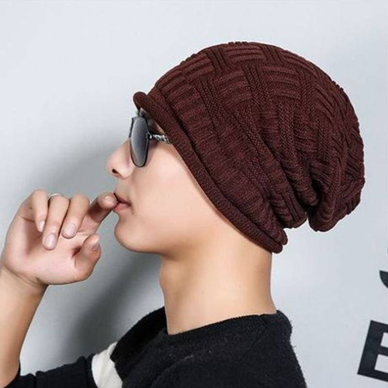 2017 Winter Hat For Women Men Women's Knitted Hats wrinkle Bonnet Hip Hop Warm Baggy Cap Wool Gorros Hat Female Skullies Beanies 2017 winter women beanie skullies men hiphop hats knitted hat baggy crochet cap bonnets femme en laine homme gorros de lana