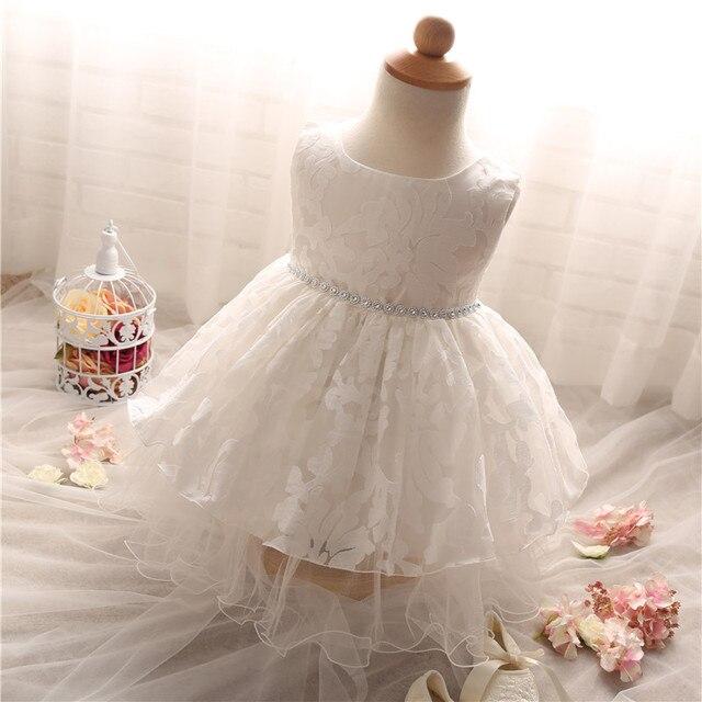 23ccbaa45 Encaje sólido Del Bebé De La Boda Primera Comunión vestidos Para Niñas  Niños Partido Desgaste de