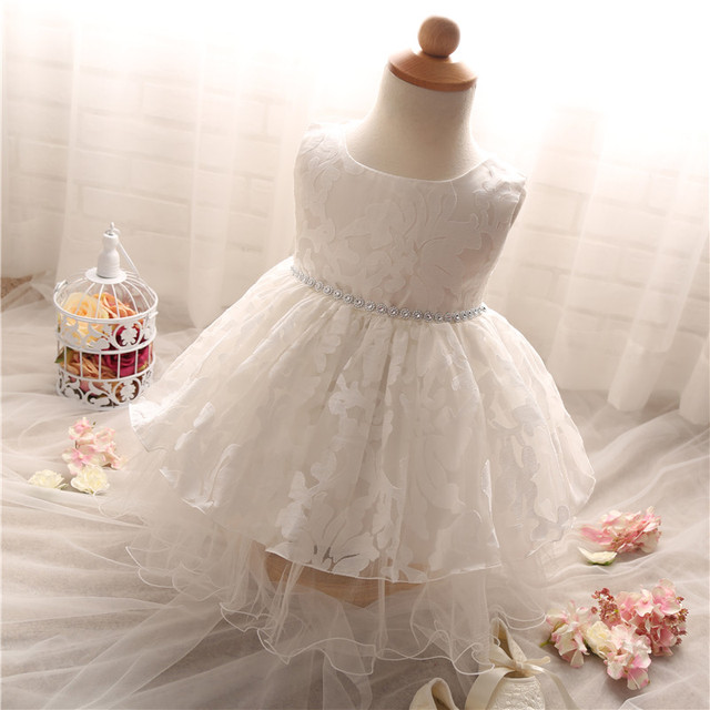 Solid Lace Baby Girl Dress For Wedding First Holy Communion Dresses Girls Kids Party Wear