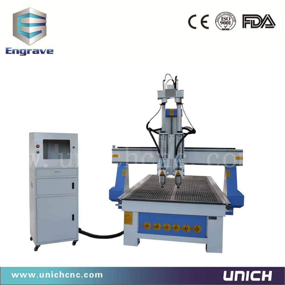 Three heads 3d relief cnc wood router china mainland wood router - Simple Auto Tool Changer Wood Cnc Router Machine 1325 Cnc Router 3d Cnc Router