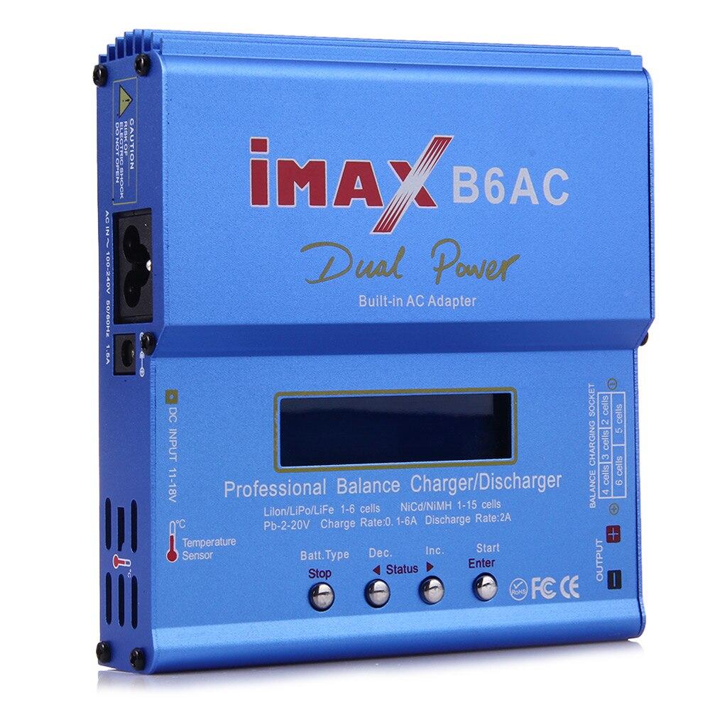 Chargeur de batterie d'équilibre de puissance de construction 80 W IMAX B6AC RC Lipo/Li-ion/vie/chargeur d'équilibre de batterie de NiMh déchargeur avec l'écran d'affichage à cristaux liquides