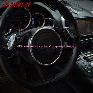 Image 4 - 3色オプションステアリングホイール修正された車の特別な装飾的なサークルポルシェカイエン用パナメーラs 911ボクスター3Dステッカー
