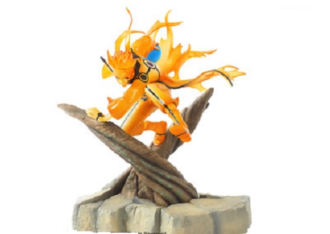 new Naruto figure Uzumaki Naruto celestial being Nine tails mode PVC action figure collection model toy 25cm new creative simulation nine tails fox toy polyethylene