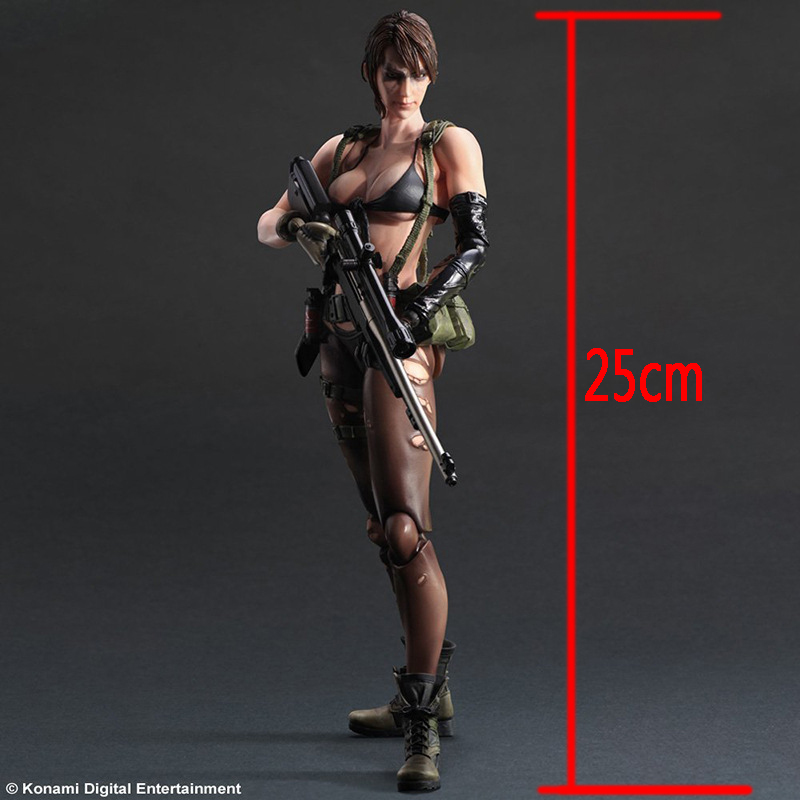 ФОТО Square Enix Play Arts Kai Metal Gear Solid V Phantom Pain Quiet Doll Game PVC Action Figure Resin Collection Model Toy 0039