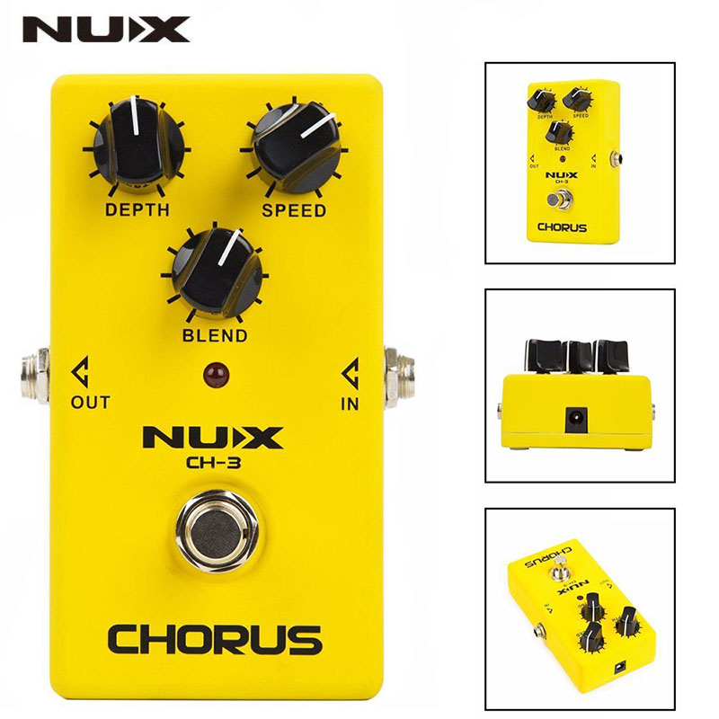 NUX CH-3 Guitar Effect Pedal Chorus Low Noise BBD True Bypass Guitarra Effect Pedal Guitar Accessories (Ship from Russian) mooer ensemble queen bass chorus effect pedal mini guitar effects true bypass with free connector and footswitch topper