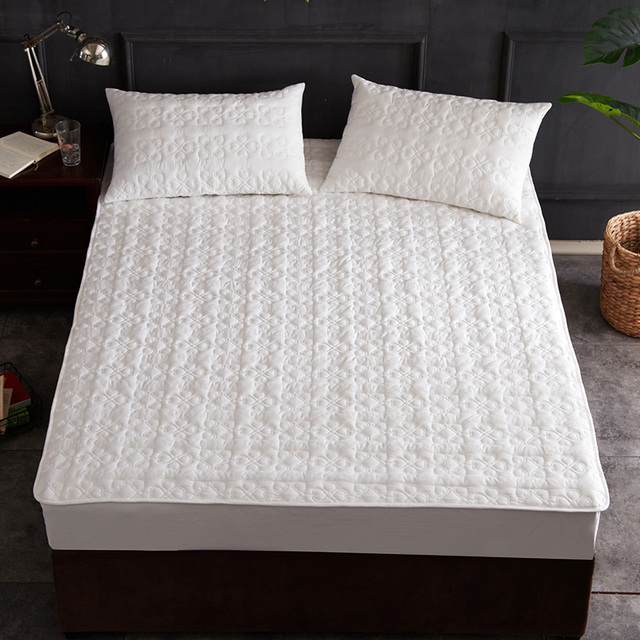 Pure White Love 100 Cotton Soft Quilted Waterproof Fitted Crib