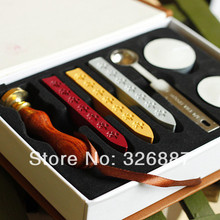 Wholesale Custom wooden Vintage sealing wooden wax stamp box for gift for DIY Scrapbooking Card Making