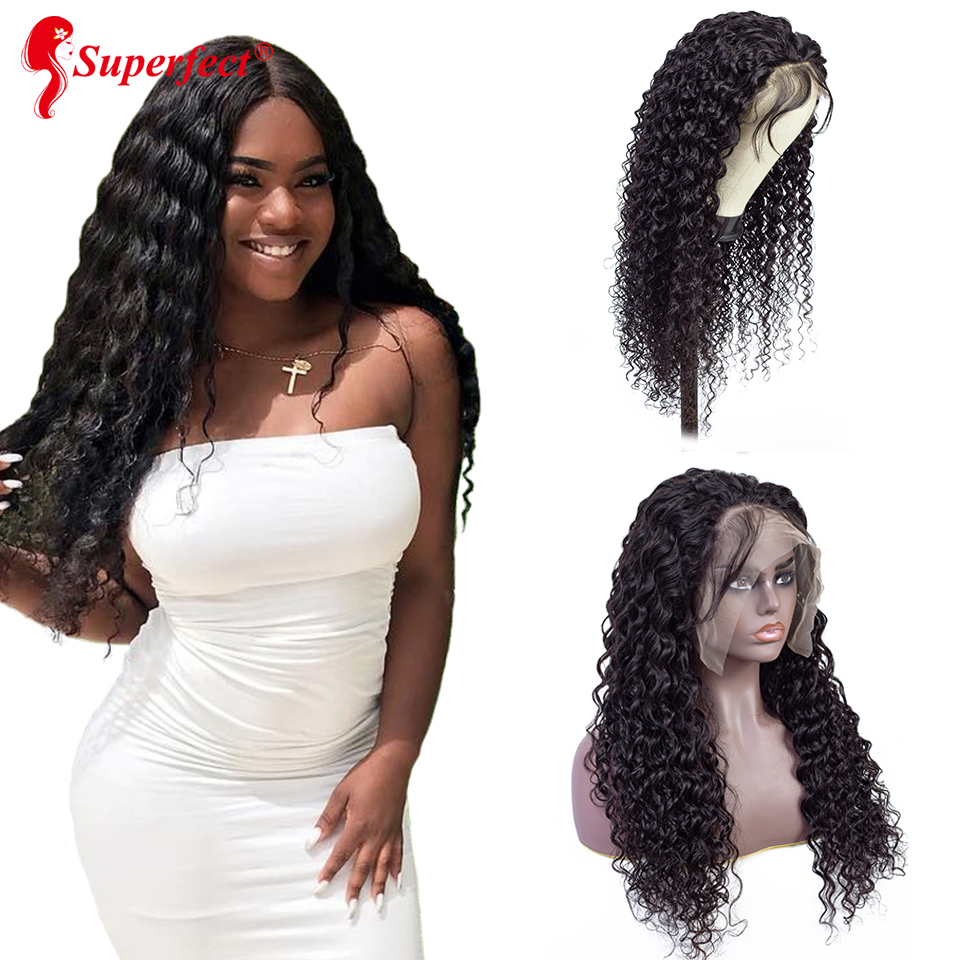 13x6 Deep Part Lace Front Human Hair Wigs Pre Plucked Bleached Knots Deep Wave Wig With