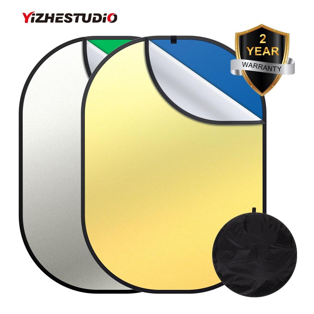 4-en-1 Portable pliable fond photographie réflecteur 1.5m x 2m bleu vert écran décors Studio panneau de YouTube