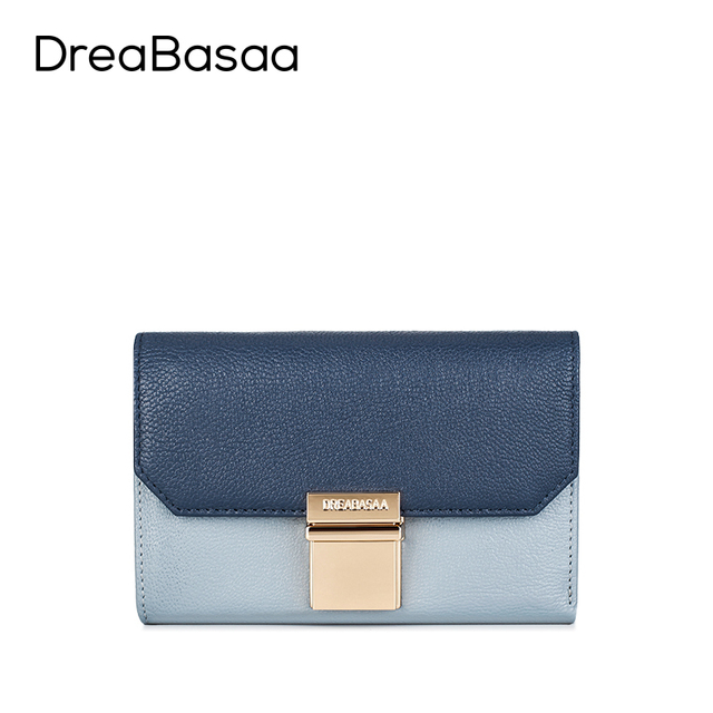 Dreabasaa Genuine Leather Wallets Designer Wallets Famous Brand Women Wallet 2016 Ladies Portefeuille Femme Purse Short