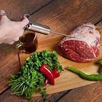 Thịt Ống Tiêm Gia Vị Ướp Ống Tiêm Kim Loại Gia Vị Ướp Thịt Injector Thép Không Gỉ 3 Needles/Bộ LFDP Chứng Nhận PY
