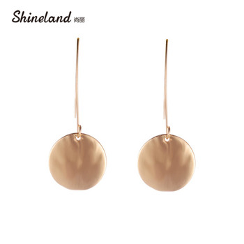 2020 Hot Sale New Fashion Brand Design Luxury trendy- Round Shape Pendant Long Drop Dangle Earrings for Women Ladies Girts image