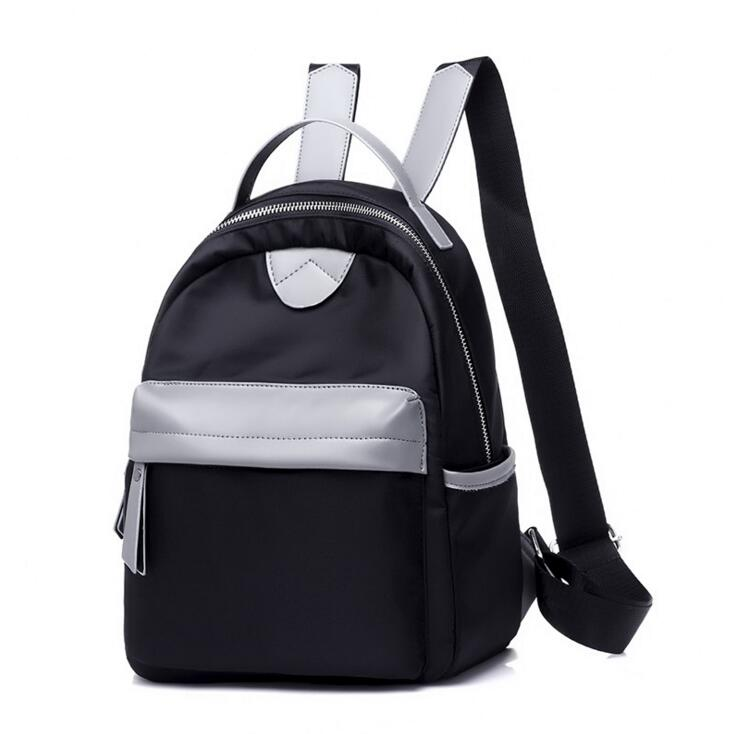 Fashionable double shoulder bag large capacity casual bag new headphone jack Oxford cloth student bag