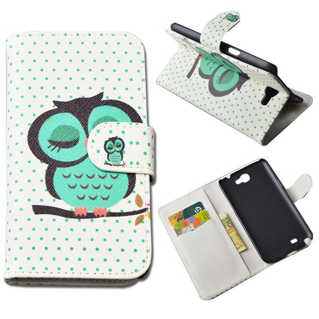JR Fashion Flip PU Leather Case For Samsung Galaxy Note 2 II N7100 GT-N7100 Cover Wallet Phone Cases with Card Holder