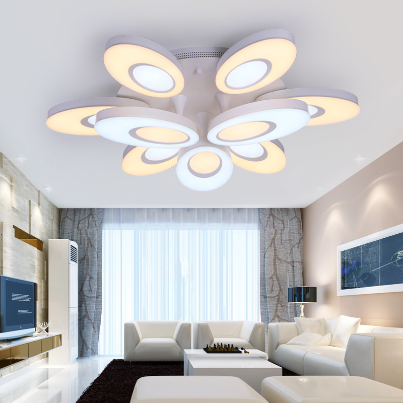 Modern minimalist living room lamps round creative personality atmosphere home master bedroom room LED ceiling lampModern minimalist living room lamps round creative personality atmosphere home master bedroom room LED ceiling lamp