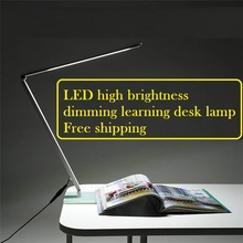 2016 hot sell led desk lamp 10w 48smd dimmable table light Foldable Metal Glass Base Power
