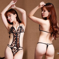 Hot Sale Sexy Leopard Print Perspective Bodysuit Sex Products Temptation Sexy Lingerie For Women