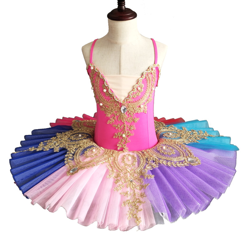 Colorful Professional Ballet Tutu Kids Child Professional Tutu Women Ballet Leotard Adult Girls Dance Ballet Clothes For Kids