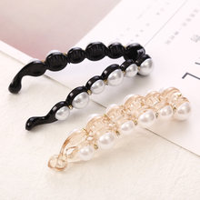 1Pc Pearls Hairpins Hair Clips Jewelry Banana Clips Headwear Women Hairgrips Girl Ponytail Barrettes Hair Pins Accessories