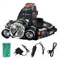 12000Lm xm-L2 Conduziu a iluminação Lâmpada de Cabeça LED Farol Camping Pesca Luz + 2*18650 bateria + carregador de Carro UE/EUA/AU/UK carregador + USB
