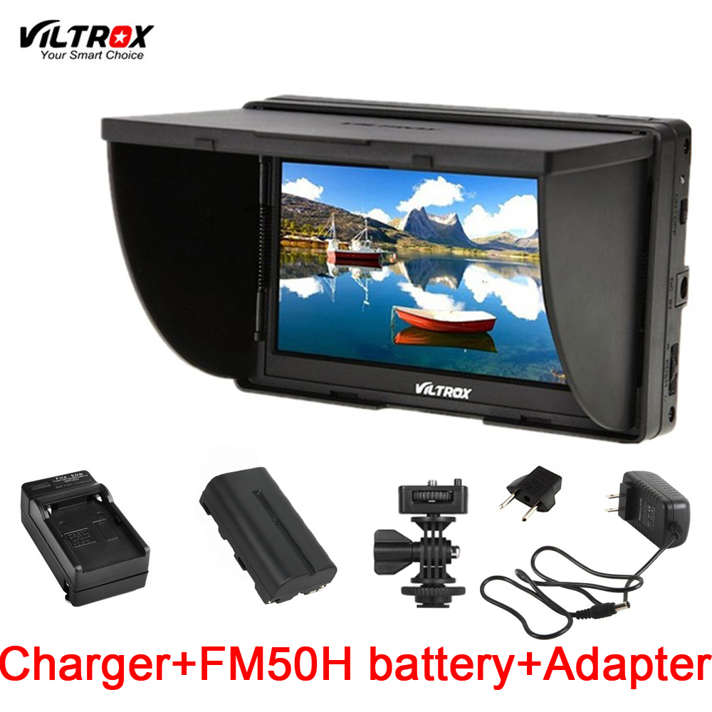 Viltrox DC 50 5 DSLR TFT field LCD Micro HDMI Camera Video Monitor Battery Charger for