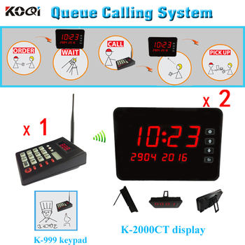 Number waiting system , 1 K-999 wireless numeric keypad + 2 K-2000CT touch display
