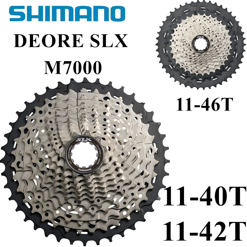 SHIMANO Deore SLX CS M7000 Cogs Freewheel <font><b>11</b></font>-40T <font><b>11</b></font>-<font><b>42T</b></font> <font><b>11</b></font>-46T Mountain Bike Cassette Sprocket MTB 11S freewheels image