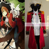 Nuevo diseño del Anime Hetalia Axis Powers Cosplay pirata Británico Mirada Llena set + Pants + Shirt + Tie + Hat envío gratis