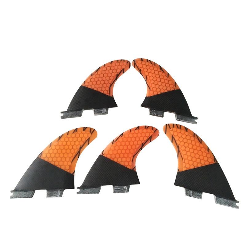 Tri-quad fins set Surf FCS2 Fin K2.1 orange En Fiber de verre En Nid D'abeille Carbone fibre aileron de Surf conseil sup Fin