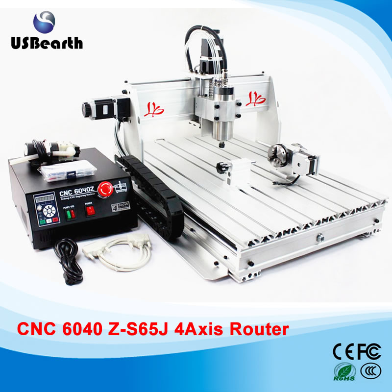 4 Axis CNC Router 6040Z-S65J Metal Cutting Machine with 800W CNC Spindle cnc 5axis a aixs rotary axis t chuck type for cnc router cnc milling machine best quality