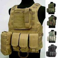 2017 Durable Police tactical Vest Nylon USMC Airsoft Tactical Military Molle Vests Combat Assault hunting Vest