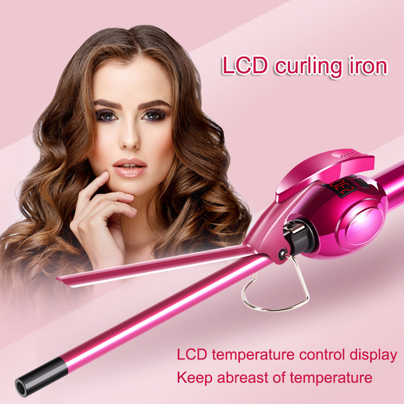 1 Pcs Curling Iron Hair Curler Professional Ceramic LCD Display Beauty Styling DIY Hair Styling Accessories Tool