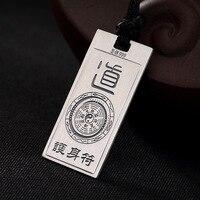 L&P Vintage Taoism 990 Sterling Silver Pendan Necklace For Women&Men Original Design Peace Symbol Fine Jewelry Wholesale