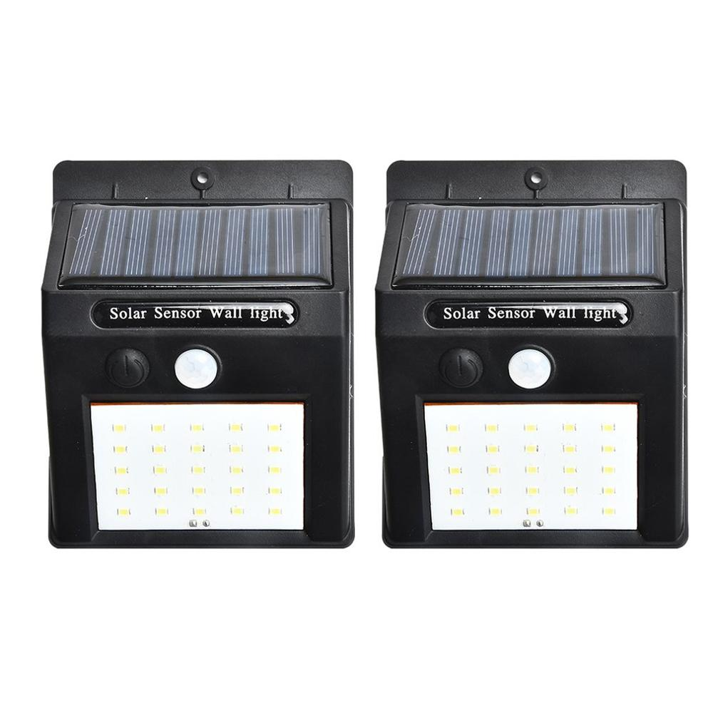 2pcs/set 20 LED Solar Lights Motion Sensor Wall Light Outdoor Garden Yard Lamp Waterproof Outdoor Waterproof Light(China)
