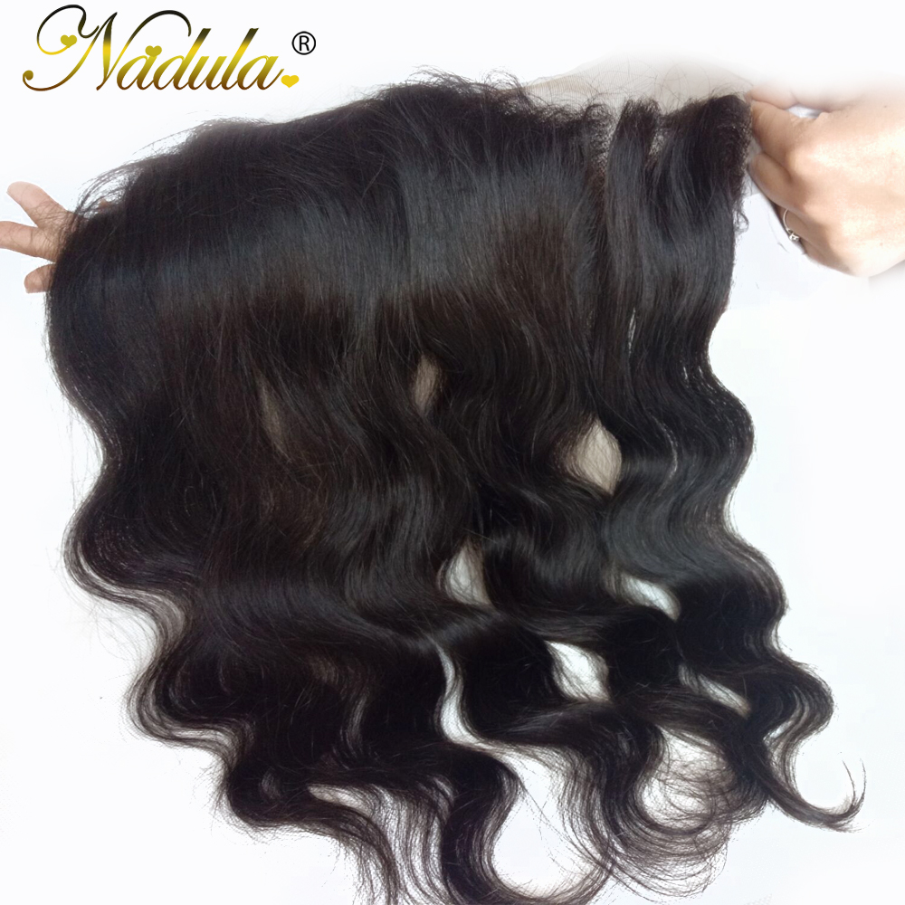 Nadula Hair 13x4 Lace Frontal Body Wave Hair   Hair s 100%  s Closure 10-20INCH 2