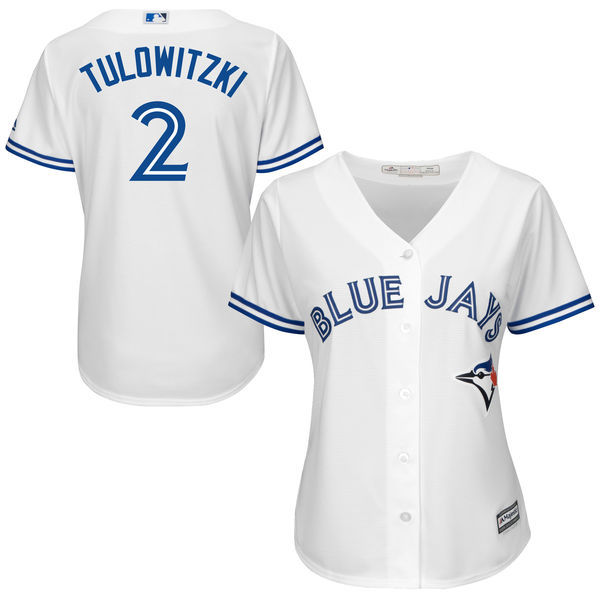 964ed5be227 MLB Women s Toronto Blue Jays Troy Tulowitzki Royal Alternate Cool Base  Player Jersey