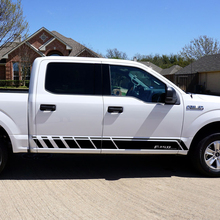 2 pcs Gradient Door Side Stripe Graphics Vinyl Decal Car Sticker for Ford Raptor F150 SVT Ranger Styling Accessories