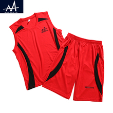 ФОТО 2017 summer children sports 2pc sets summer child suit boy's basketball jersey clothing set loose sport clothing teen boy 9-11y
