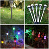 5pcs Lot Solar Power LED Path Light Outdoor Waterproof Stainless Steel Pathway Landscape Lawn Lamp For