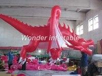 Хит продаж гигантская муха красный надувной дракон надувные животного для событий украшения