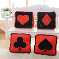 Lovely Poker DIY Creative Personality Home Furnishing Plush Toy Plum Spades Square Pillow