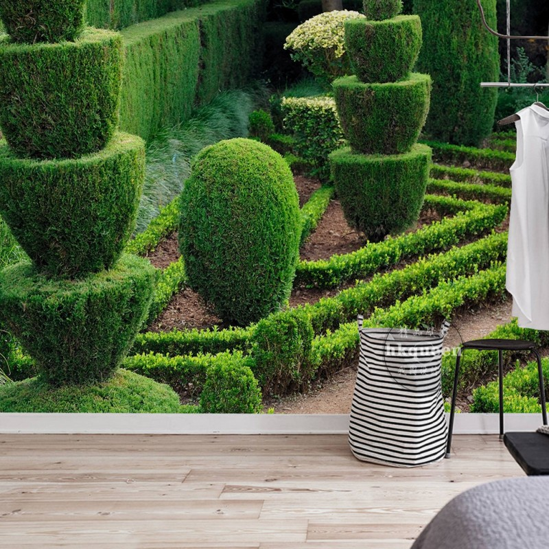 Custom Mural Modern Lawn Pruning Greening Geometric Plant