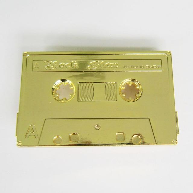 Men Belt Buckle Retail Distribute Rock Music Cassette Tape Belt Buckle BUCKLE-MU026  Free Shipping
