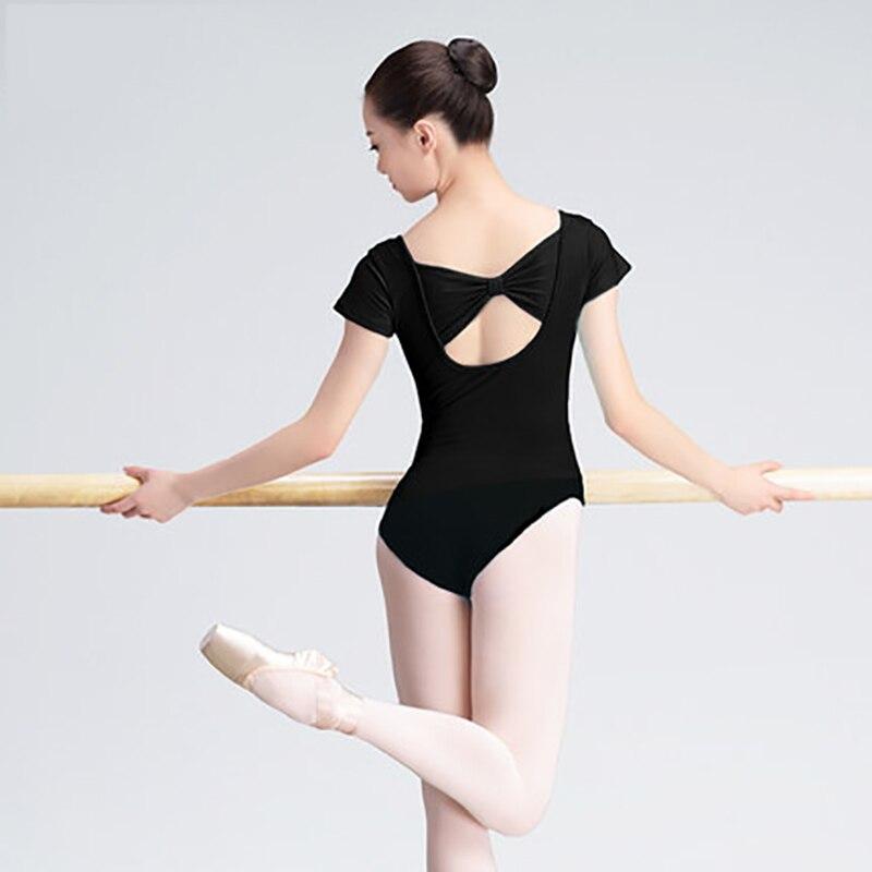 new-short-sleeve-cotton-font-b-ballet-b-font-dance-leotard-adult-girls-women-back-bowknot-gymnastics-dance-leotard-bodysuit-slim