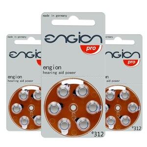 Image 4 - Engion высокопроизводительный 312 A312 E312 P312 PR41 Аккумулятор для эффективных слуховых аппаратов CIC цинковая воздушная батарейка батарейки