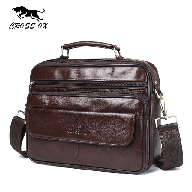 CROSS OX Новинка мужские Пояса из натуральной кожи клапаном сумка Винтаж Бизнес Satchels сумка на ремне, масло Воск Корова кожа Сумочка SL421M