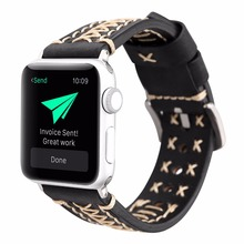 New design fashion black/brown leather watchband watch accessories for apple watch strap 38mm iwatch apple watch band 42mm цена и фото